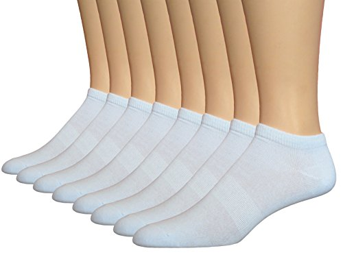 Shoes Running 750 (Top Step Men's Athletic Low-cut Socks with Arch Support - 8 Pack White Sock Size 10-13. Fits Shoe Size 6-12)