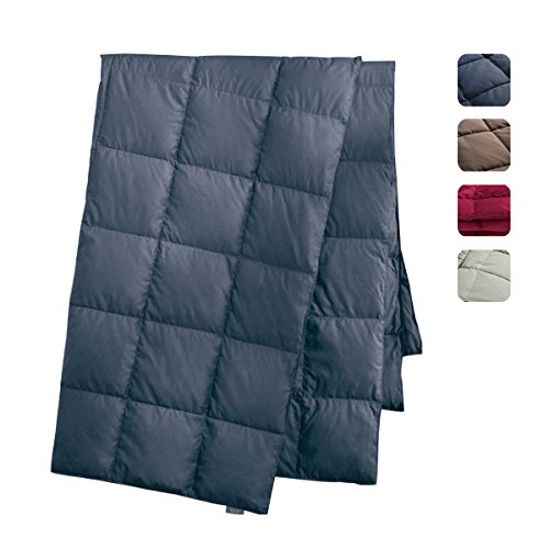 Find Discount puredown All Season Goose Down Sport Blanket, DownProof Peach Skin Fabric, Packable Th...