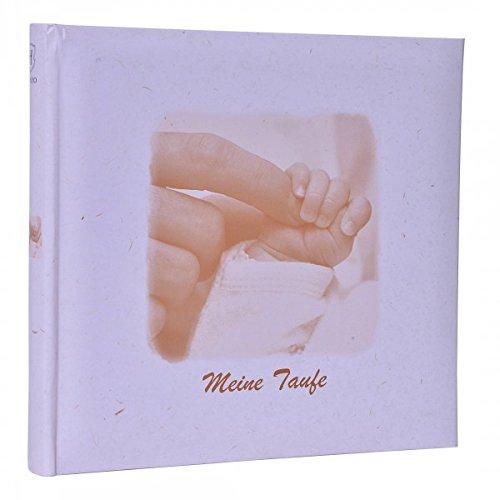 HENZO Baby Fotoalbum Händchen - MEINE TAUFE - 24, 5 x 25, 5 cm - 36 Seiten Album - Babyalbum - Geschenk zur Geburt oder Taufe - Taufalbum Quantio