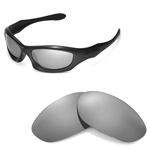Walleva Polarized Titanium Replacement Lenses for Oakley Monster Dog Sunglasses - Titanium Replacement