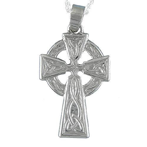 Alylosilver Collar Colgante Cruz Celta de Plata para Mujer ...
