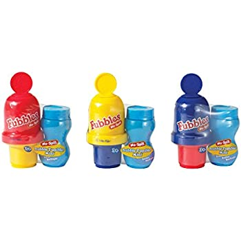 Little Kids Fubbles No-Spill Mini Bubble Tumbler (3 Pack)