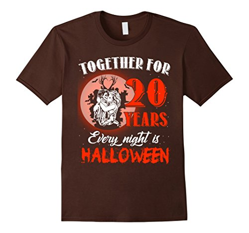 20's Costumes For Couples - Mens Funny Halloween Costume For Couple. 20th Anniversary Gift Medium Brown