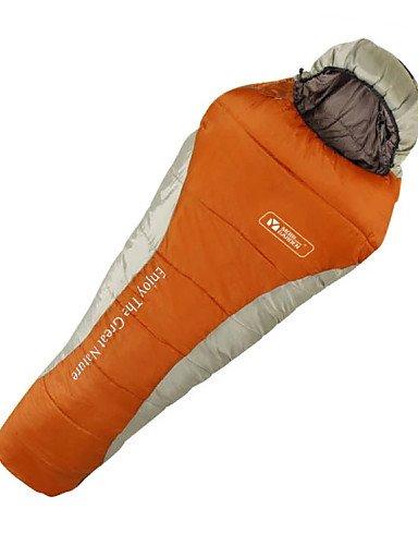Saco de dormir momia bolsa única -5? hueca Algodón/plumón de pato 300 G 225 x 80 viaje impermeable Mobi jardín, naranja: Amazon.es: Deportes y aire libre