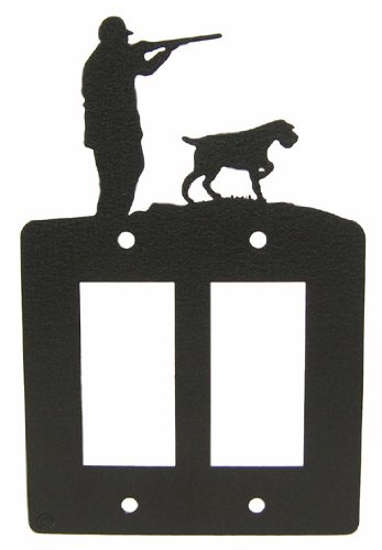 German Wirehaired Pointer Double GFI Rocker Light Switch Plate Cover