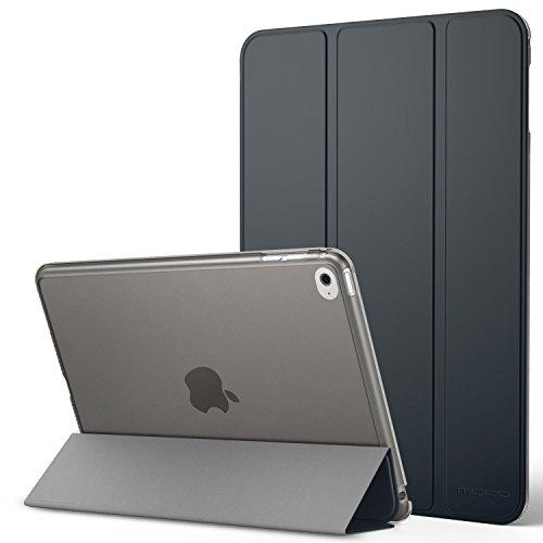 MoKo iPad Mini 4 Hülle - PU Leder Tasche Schutzhülle Schale Smart Case mit Translucent Rücken Deckel, mit Auto Schlaf / Wach Funktion und Stanfunktion für Apple iPad Mini 4 2015 Genaration 7.9 Zoll IOS Tablet, Space Grau