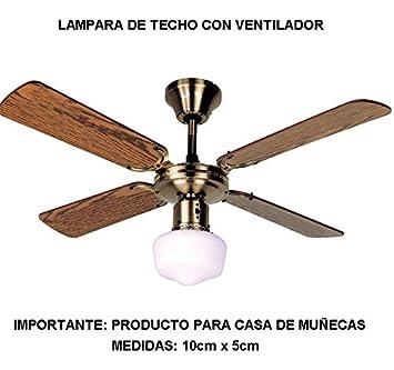 LAMPARA Techo con Ventilador 10cm: Amazon.es: Juguetes y juegos