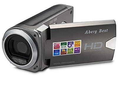 ABERG BEST HD Digital Video Camera - 8 mega pixels 720P HD Digital Camera - 2.7 inch LCD Screen - Students Camcorder