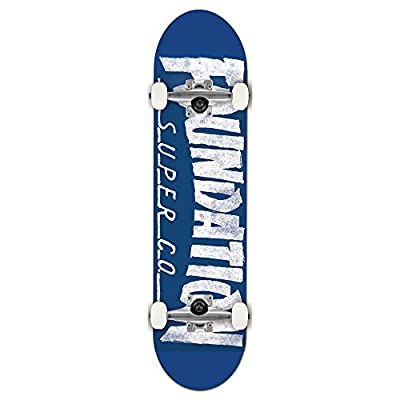 Foundation x Thrasher Skateboard Complete Blue White 8.0 w/Mob Grip : Sports & Outdoors