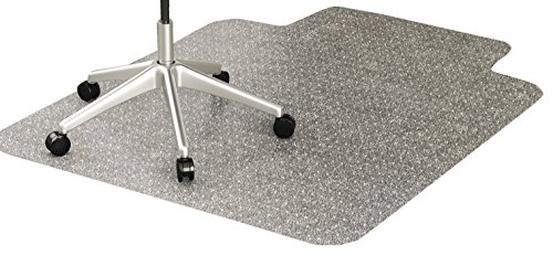 deflecto CM11112 36 x 48 w/Lip Clear EconoMat Occasional Use Chair Mat for Low Pile ()