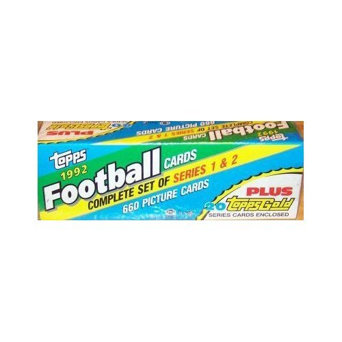 1992 Topps Football Factory Complete Opened Set 660 (1992 Topps Gold Card)