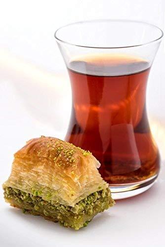 Topkapi Turkish Tea Set, Tea Glass, Tea Cup, Ajda, 6 Glasses