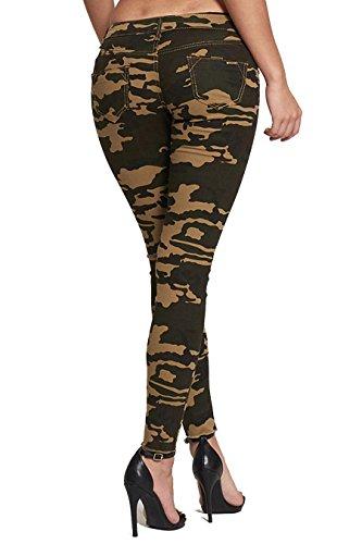 16 khaki 549 Divadames Jeans Donna gpwq48F7