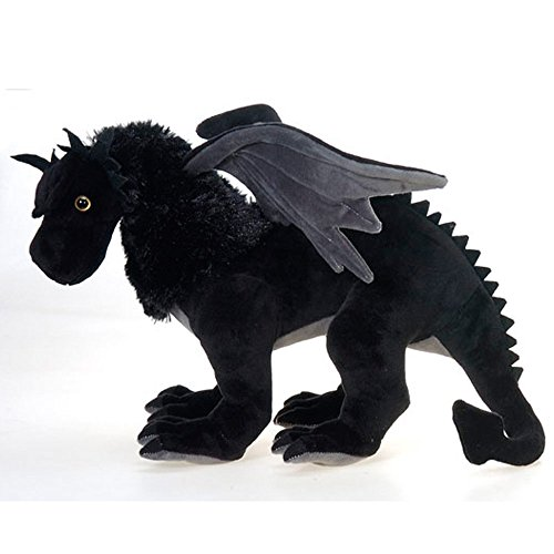 """Fiesta Toys Exotic Dinosaur Plush-19"""" Black Dragon Animal"""