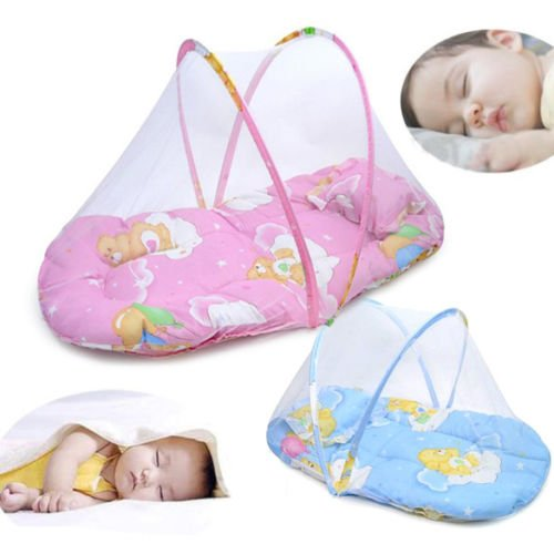 [Netting Canopy Cushion Mattress for Baby Infant Mosquito Insect Cradle Bed Net Goods Shop] (Beetle Wings Costume)