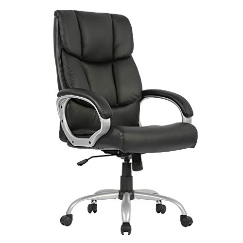 Office Desk Chair Ergonomic Swivel Executive Adjustable Task Computer Chair High Back Office Desk Chair in Home Office with Back Support