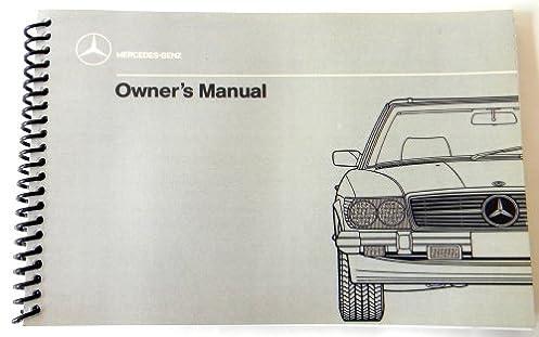 1986 1987 1988 1989 mercedes benz 560 sl owners manual w 107 rh amazon com Mercedes-Benz SLS Mercedes-Benz SLS