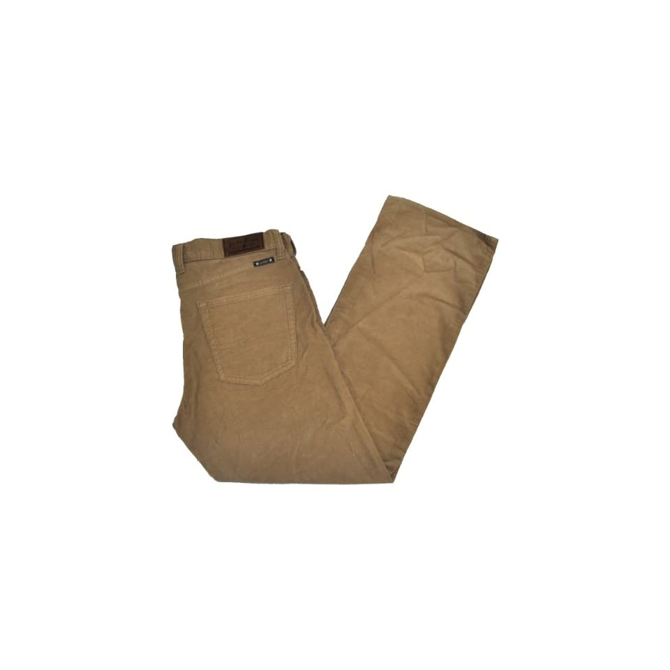 Lucky Brand 361 Vintage Straight Mens Corduroy Pants (32 x 30, Kahki)