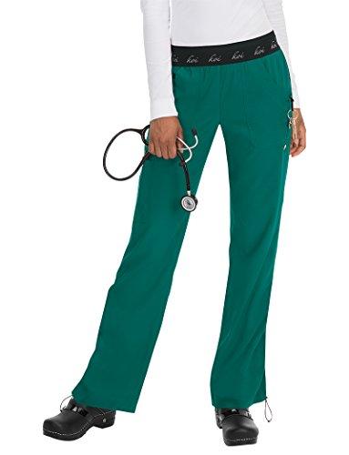 koi Lite Women's Spirit Logo Elastic Waistband Scrub Pant XXX-Large Petite - Lite Green