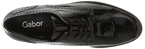 Shoes Derby Fashion Mujer Gabor Negro para Gabor Schwarz FqtEdwn