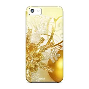 Hot Tpu Cover Case For Iphone/ 5c Case Cover Skin - Christmas Balls