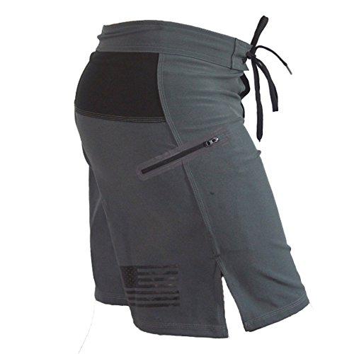 Sanguine Crossfit Shorts, Workout Shorts, Gym Shorts, Training Shorts for Men Grey