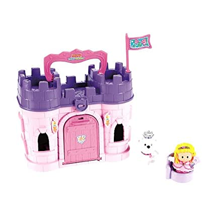 amazon com exclusive fisher price little people play n go castle