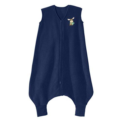 Halo Sleepsack Microfleece Wearable Blanket (HALO Big Kids Sleepsack Micro Fleece Wearable Blanket, Blue Moose, 2-3T)
