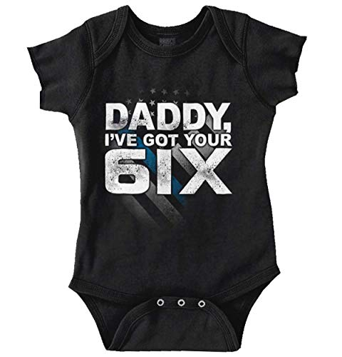 Brisco Brands Got Your Six Newborn Political Blue Lives Baby Romper Bodysuits