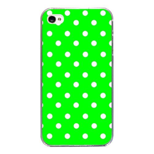 """Disagu Design Case Coque pour Apple iPhone 4 Housse etui coque pochette """"Grün Weiß gepunktet"""""""