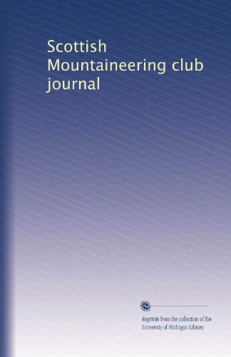 Scottish Mountaineering club journal (Volume 3)