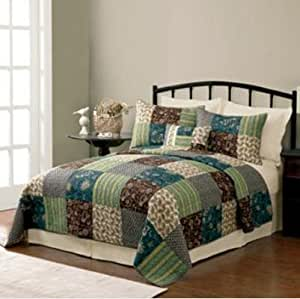 Sonoma Lotus Cotton Full / Queen Quilt & Shams Set, 3 Piece Bedding