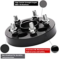 RICHEER 4 PCS Hubcentric 5x4.5 Wheel Spacers for Nissan 350Z 370Z Infiniti G35 G37,25mm 5x114.3 Hubcentric Wheel Spacer 66.1mm Hub Bore M12x1.25 for Nissan Infiniti