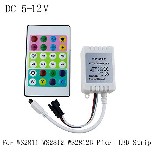 YalinGE IR Remote Controller DC 5V-12v for WS2812 RGB LED Strip Test WS2812B WS2811 WS2812 Pixel LED Strip Light 24Keys Mini Controller