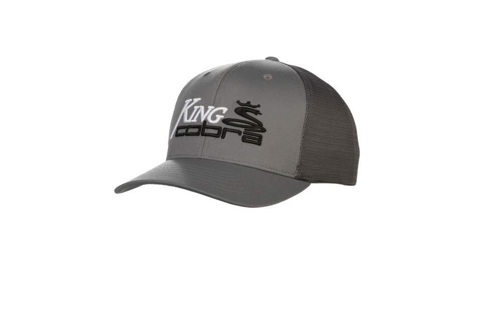 4008571eb75 Amazon.com  Cobra Golf 2019 King Cobra Trucker Snapback Hat (Black)  Sports    Outdoors