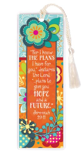 I know the Plans Lord Give Hope and a Future 2 x 6 Inch Vinyl-Encased - Mall Plans White