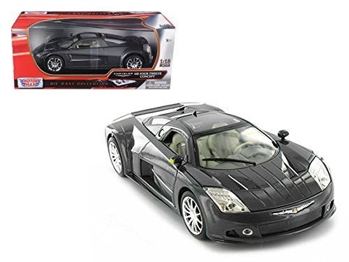 Motormax 73138gry 1 by 18 Chrysler Me Four Twelve Concept Diecast Model Car44; Gray