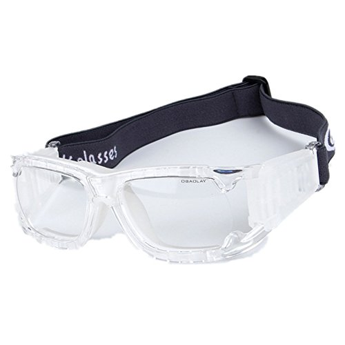 fe1d088b459f Wonzone Unisex Kids Sport Glasses Anti-fog Protective Safety Goggles w  Adjustable  Strap for Basketball Football Hockey Rugby Baseball Soccer Volleyball and  ...