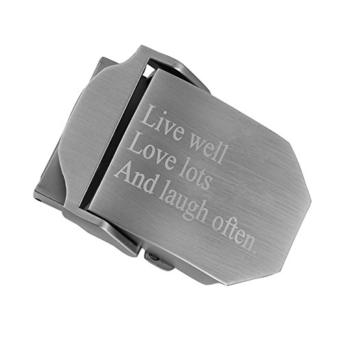 Faleto Mens Customized Belt Buckles Military Automatic Adjustable Metal Buckle,10-Customize Version