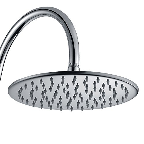 Purelux 10 inches Rainfall Shower Head - Made of Full Stainless Steel, 10 YEAR WARRANTY