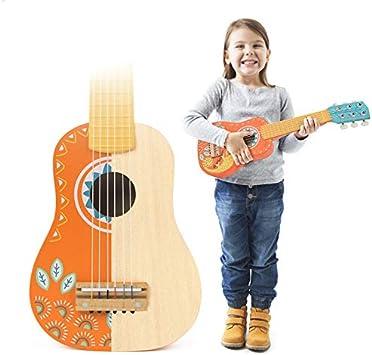 Los Niños Juguetes De Madera De La Guitarra De 6 Cuerdas Pueden Jugar Una Pequeña Guitarra Ukelele Instrumento Musical, Apto para Niños De 3-7 Años, Los Principiantes A Aprender Regalo
