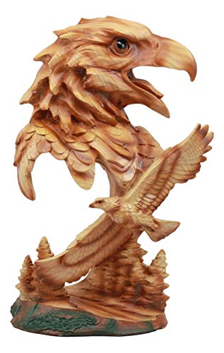 Ebros American Pride Bald Eagle Bust Statue 11.75
