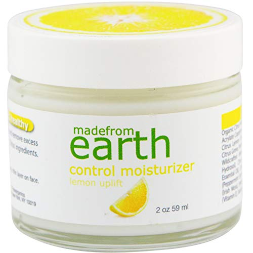 Made from Earth Control Acne Moisturizer - Hyaluronic Acid, Vitamin C for Oily, Acne, Sensitive Skin