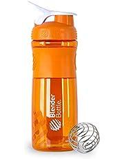 زجاجة خلط البروتين من بلندر، لون برتقالي وابيض، 28 اونصة