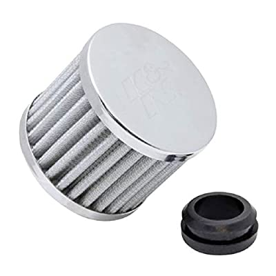 K&N Vent Air Filter/ Breather: High Performance, Premium, Washable, Replacement Engine Filter: Flange Diameter: 1 In, Filter Height: 2.5 In, Flange Length: 1 In, Shape: Breather, 62-1590WT: Automotive