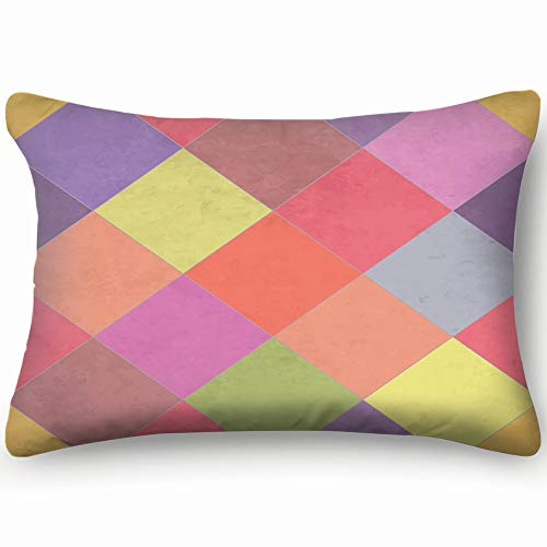Textured Argyle Eps 10 Abstract Home Decor Wedding Gift Engagement Present Housewarming Gift Cushion Cover 20X30 Inch