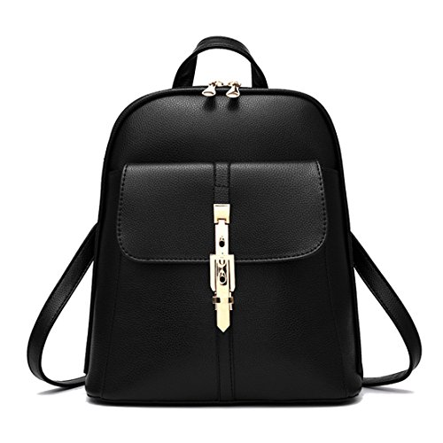 Women Bag Black Bag Schoolbag Leisure Travel Leather Shoulder Dunland Backpack Girls d7qfFdOw