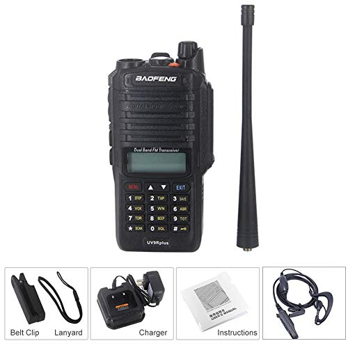 Walkie Talkies with Original Earpieces UV-9R Plus Walkie Talkie 8W High Power IP67 Waterproof CB Radio VHF UHF Dual Band Handheld Two Way Radio 10km long range FM Portable Digital Transceiver