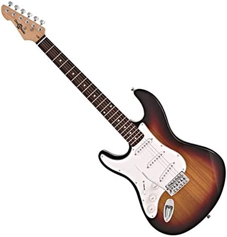 LA Left Handed Electric Guitar by Gear4music Sunburst: Amazon.es ...