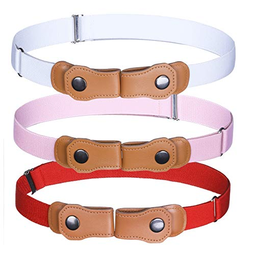 Boy Invisible No Buckle Belt – 3 Pcs Girls Stretch Belts for Kids Pants – The Super Cheap